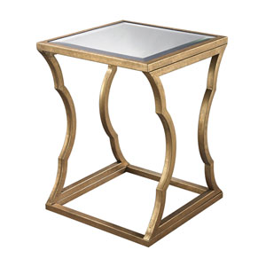 Metal Cloud Antique Gold Leaf Side Table