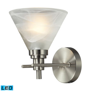 Pemberton One Light LED Bath Fixture In Brushed Nickel
