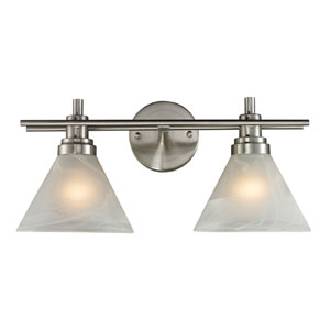 Pemberton Two Light Bath Fixture In Brushed Nickel