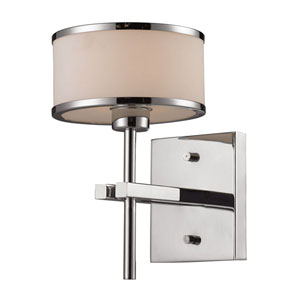 Utica One Light Bath Fixture In Polished Chrome
