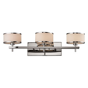Utica Three Light Bath Fixture In Polished Chrome