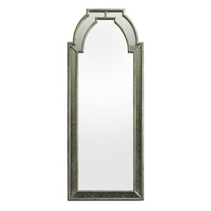 Antique Silver 27-Inch Arched Mirror
