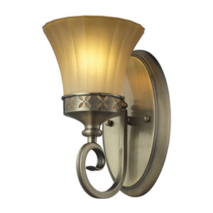 Claremont One Light Bath Fixture In Colonial Bronze