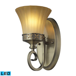 Claremont One Light LED Bath Fixture In Colonial Bronze