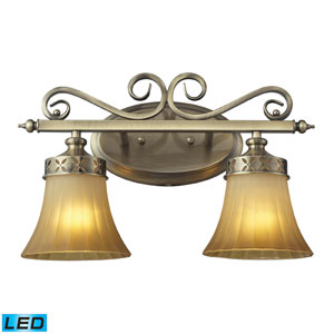 Claremont Two Light LED Bath Fixture In Colonial Bronze