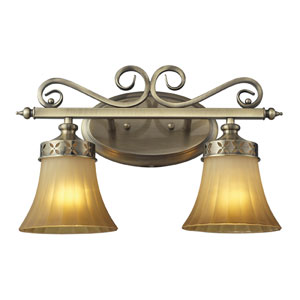 Claremont Two Light Bath Fixture In Colonial Bronze