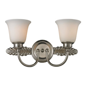 Ventura Two Light Bath Fixture In Brushed Nickel