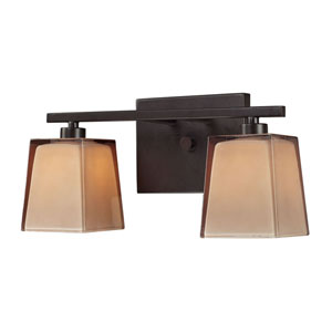Serenity Two Light Bath Fixture In Oiled Bronze