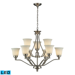 Sullivan LED Chandelier In Brushed Nickel