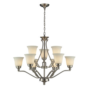Sullivan Nine Light Chandelier In Brushed Nickel