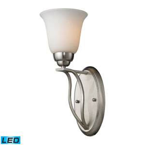 Malaga One Light LED Wall Sconce In Brushed Nickel