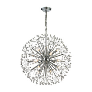 Starburst Polished Chrome 16-Light Pendant