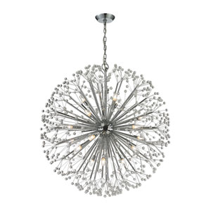 Starburst Polished Chrome 19-Light Pendant