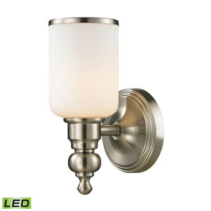 Bristol Brushed Nickel LED One Light Bath Fixture