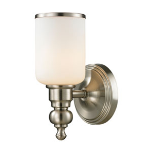 Bristol Brushed Nickel One Light Bath Fixture