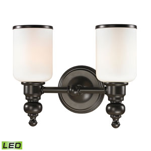 Bristol Oil Rubbed Bronze LED Two Light Bath Fixture