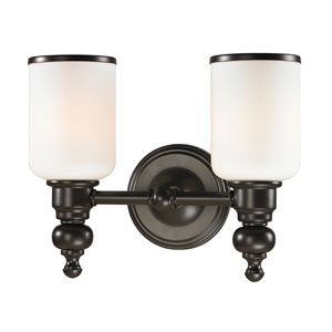 Bristol Oil Rubbed Bronze Two Light Bath Fixture