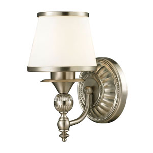 Smithfield Brushed Nickel One Light Bath Fixture