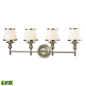 Smithfield Brushed Nickel LED Four Light Bath Fixture