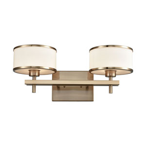 Utica Satin Brass Two-Light Vanity