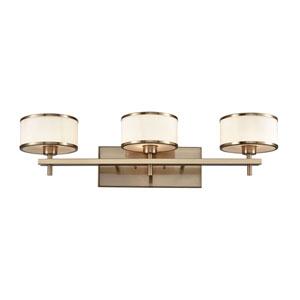 Utica Satin Brass Three-Light Vanity