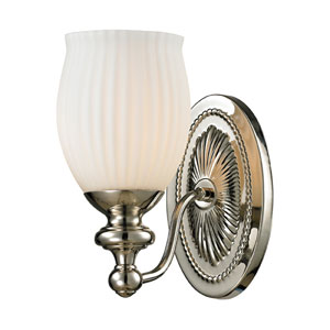 Park Ridge Polished Nickel One Light Bath Fixture