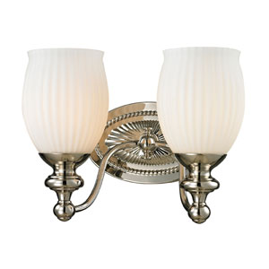 Park Ridge Polished Nickel Two Light Bath Fixture