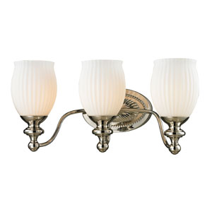 Park Ridge Polished Nickel Three Light Bath Fixture