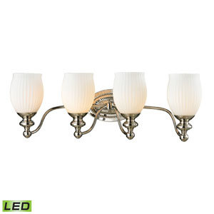 Park Ridge Polished Nickel LED Four Light Bath Fixture