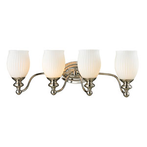 Park Ridge Polished Nickel Four Light Bath Fixture