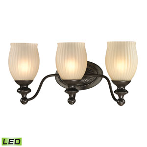 Park Ridge Oil Rubbed Bronze LED Three Light Bath Fixture