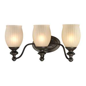 Park Ridge Oil Rubbed Bronze Three Light Bath Fixture
