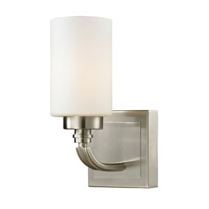 Dawson Brushed Nickel One Light Bath Fixture