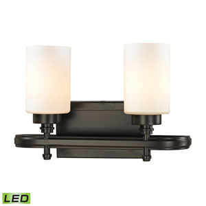 Dawson Oil Rubbed Bronze LED Two Light Bath Fixture