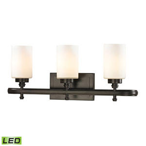 Dawson Oil Rubbed Bronze LED Three Light Bath Fixture
