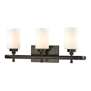 Dawson Oil Rubbed Bronze Three Light Bath Fixture