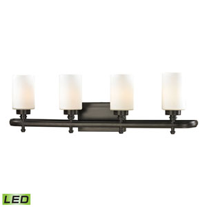 Dawson Oil Rubbed Bronze LED Four Light Bath Fixture