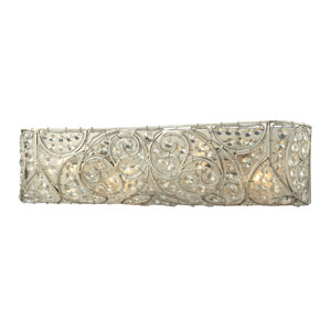 Andalusia Aged Silver Four Light Bath Fixture
