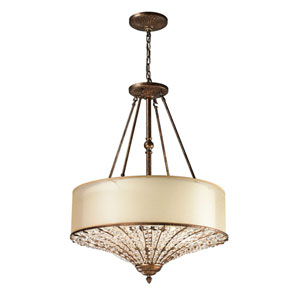 Crystal Spring Spanish Bronze 31-Inch Four Light Pendant