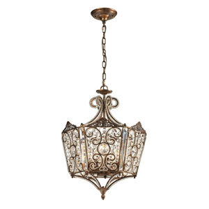 Villegosa Spanish Bronze Eight Light Pendant