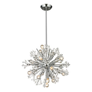 Starburst Polished Chrome 15-Light Chandelier