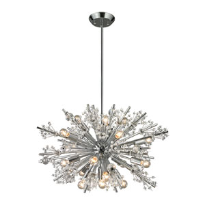 Starburst Polished Chrome 19-Light Chandelier