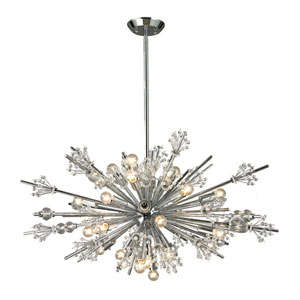 Starburst Polished Chrome 24-Light Chandelier