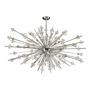 Starburst Polished Chrome 31-Light Chandelier
