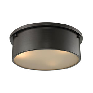 Simpson Oil Rubbed Bronze Three-Light Flush Mount