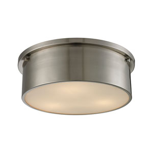 Simpson Brushed Nickel Three-Light Flush Mount