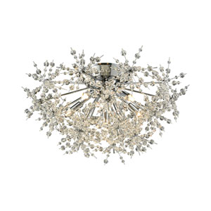 Snowburst Polished Chrome 21-Inch Six-Light Semi-Flush Mount
