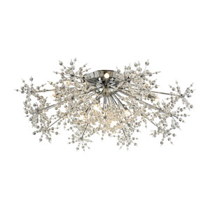 Snowburst Polished Chrome 32-Inch 13-Light Semi-Flush Mount