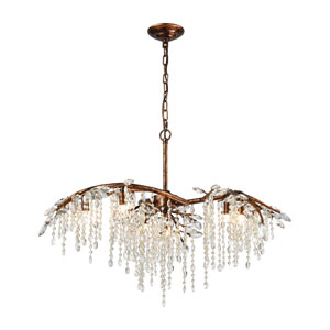 Elia Spanish Bronze 27-Inch Six-Light Chandelier
