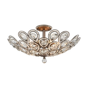 Evolve Weathered Zinc 24-Inch Eight-Light Semi-Flush Mount
